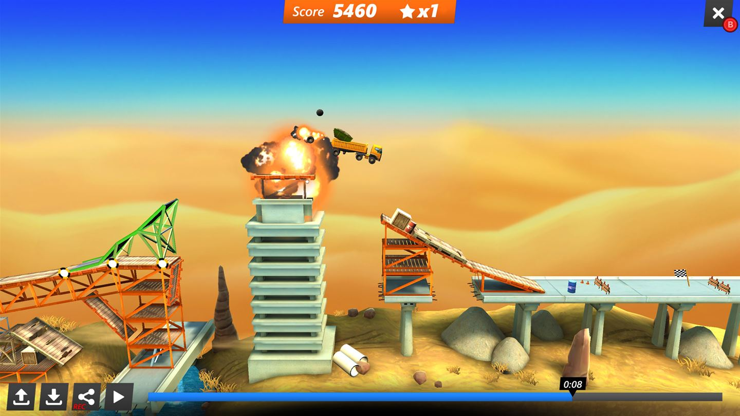 Bridge Constructor Stunts Screenshot2